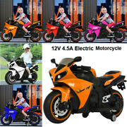 12v Kids Ride On Motorcycle Two-wheeled Electric Toy Bike Car With Flash-wheel