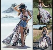 Spell And The Gypsy Collective Lucy In The Sky Gown Tie Dye Size S Small Maxi Dres
