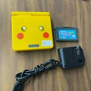 Gba Sp - Gameboy Advance Sp Pikachu Pokemon Console Ags 101 Oem Charger Tested