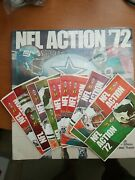 1972 Sunoco Nfl Unopened Deluxe Album And 80 Unopened Books Of Stamps