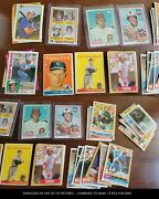 Huge Baseball Hofer Card Lot - Many Rookies And Early Cards - 1950s-1990s - 400+
