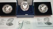 2021 Silver Eagle Proof 3 Coin Set Type 1 W And Type 2 W And S Ogp