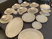 Lenox China Brookdale Dinnerware With Serving Pieces. No Chips Cracks Or Crazing