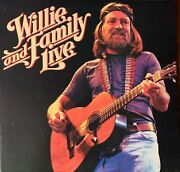 Willie Nelson-pre-owned..2lp..gatefold-willie And Family Live.rarely Played..vg/vg
