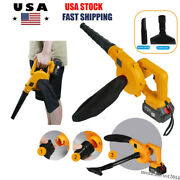 18v Cordless Electric Leaf Blower 2-in-1 Vacuum/sweeper Battery Powered Charger
