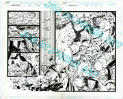 Image Megahurtz Double Page Splash Signed By Spider-man Artist Free Shipping