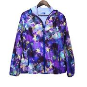 The Womenandrsquos Light Weight Purple Jacket Windbreaker Floral Hoodie Med