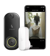 Kangaroo Smart Doorbell Camera + Indoor Chime   Photograph Guests And Packages  