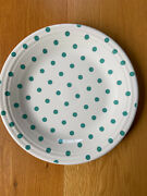 Fiesta ®️ White Dinner Plate W/ Turquoise Blue Polka Dot Hlcca 2020 Exclusive