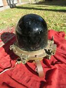 Antique Massive Bronze Us Wwii Military Infrared Lamp Maritime Marine Red Glass