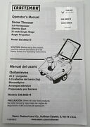 Craftsman Snow Thrower Operators Manual Instruction Book Parts List Blower 21andrdquo
