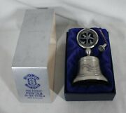 Vintage Crown And Rose 1981 12 Days Of Christmas Pewter Bell 4 Calling Birds