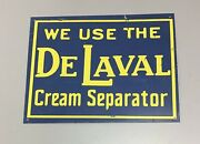 Early Vintage Delaval Cream Separator Tin Sign Advertising
