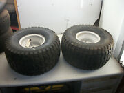 2004 Huskee Supreme 25 Hp-50 Lawn Tractor Part Pair Rear Tires And Wheels