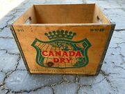 Vintage Canada Dry Wood Wooden Bottle Crate Advertising D11 H-10-60 Great Color
