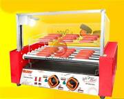 220v New Temperature Control Commercial 7 Roller Hot Dog Grill Cooker Machine