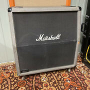 Vintage 1987 Marshall Silver Jubilee 2551a Angled 4x12 Guitar Amplifier Cabinet