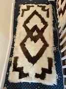 Native American Indian Pair X2 Antique Bear Blankets Rugs