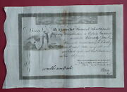 Usa Stock Certificate 1830 Bank Of The United States Of America - S/by N. Biddle