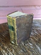 Antique 1847 Methodist Episcopal A Collection Of Hymns Miniature Book Leather