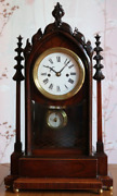 Rosewood Gothic Double Fusee Bracket Clock 1870