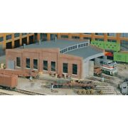 Walthers Cornerstone 933-3041 - Three-stall Roundhouse - Ho Scale