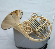 New Weibster Gold Brass Double French Horn 103 Model Detached Bell Luxury Case