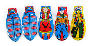 5 Vintage 1950s/60s Toy Tin Clickers • Japan • Cowboys, Indian, Beetle Insects