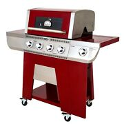 Cuisinart Four Burner Gas Grill Dual Fuel Valves Stainless Outdoor Bbq Grill Usa