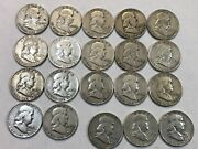 Roll Of 20 Franklin Silver Half Dollar Coins. 17 1949-d And 3 1949-s. Nkd6