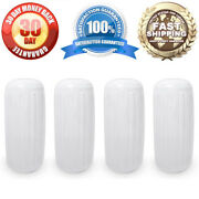 6 X 15 Boat Docking Inflatable Fenders 4x White Vinyl Dock Guard Center Hole