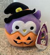 New 4andrdquo Holly The Owl Witchandrdquo Kellytoy Squishmallow Plush Halloween 2021 👻🎃
