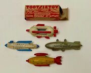 Lot Of 4 Buck Rogers Tootsietoy Spaceships Vgc 1 With Original Box