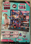New Lol Surprise Omg Fashion Doll House Real Wood W/85+ Surprises Ships Fast