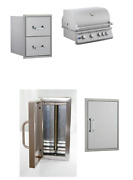 Bbq Grill Package, Stainless Steel Access Door/drawer For Diy Outdoor Kitchen
