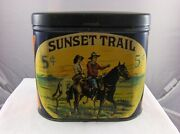 Vintage Advertising Tobacco Sunset Trail Roby Cigar Co. Empty Container