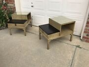 Mid Century Pair Of Nightstands Side End Tables By American Of Martinsville Mcm