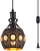 Ylong-zs Hanging Lamps Swag Lights Plug In Pendant Lightretro Stylevintage And