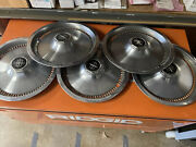 5-vintage 1975 81 Lincoln Mark Continental Town Car Hubcaps Wheel Covers Fomoco