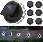 Solar Deck Lights Outdoor, Solar Wall Lamp, Led Cold White Decorative Lighting,