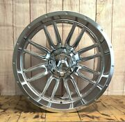 22x12 Whipsaw Hartes Metal Offroad Et-44 5x114.3/127 Polish Fit Jeep Wrangler
