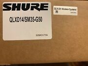 Shure Qlxd14/sm35-g50 Wireless Headset Microphone System New In Box