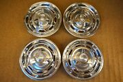 Original 1964 Gto Hubcaps W/ Spinners Le Mans Tempest 389 Tri Power 64