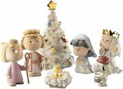 Lenox Peanuts The Christmas Pageant 7 Piece Set In Gift Box