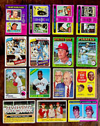 Vintage Baseball Sports Cards Card Lot Stars Hall Of Famers 1950's-1970's