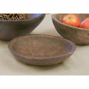 New Primitive Country Farmhouse Colonial Early American 9 Wood Treen Dough Bowl