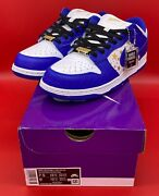 Supreme Nike Sb Dunk Low Stars Hyper Royal   Sizes 7.5 And 13   New Deadstock