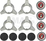 Macs Auto Parts 1964-1965 Mustang Wire Wheel Spinner And Cap Set 12 Pieces
