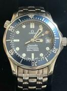 Auth Omega Watch Seamaster 300m Professional Case 36mm Chronograph Date F/s
