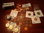 Rare Indian Head Buffalo U.s 5 Cent Ni And Hoard Old Pennies And Extra Coinage
